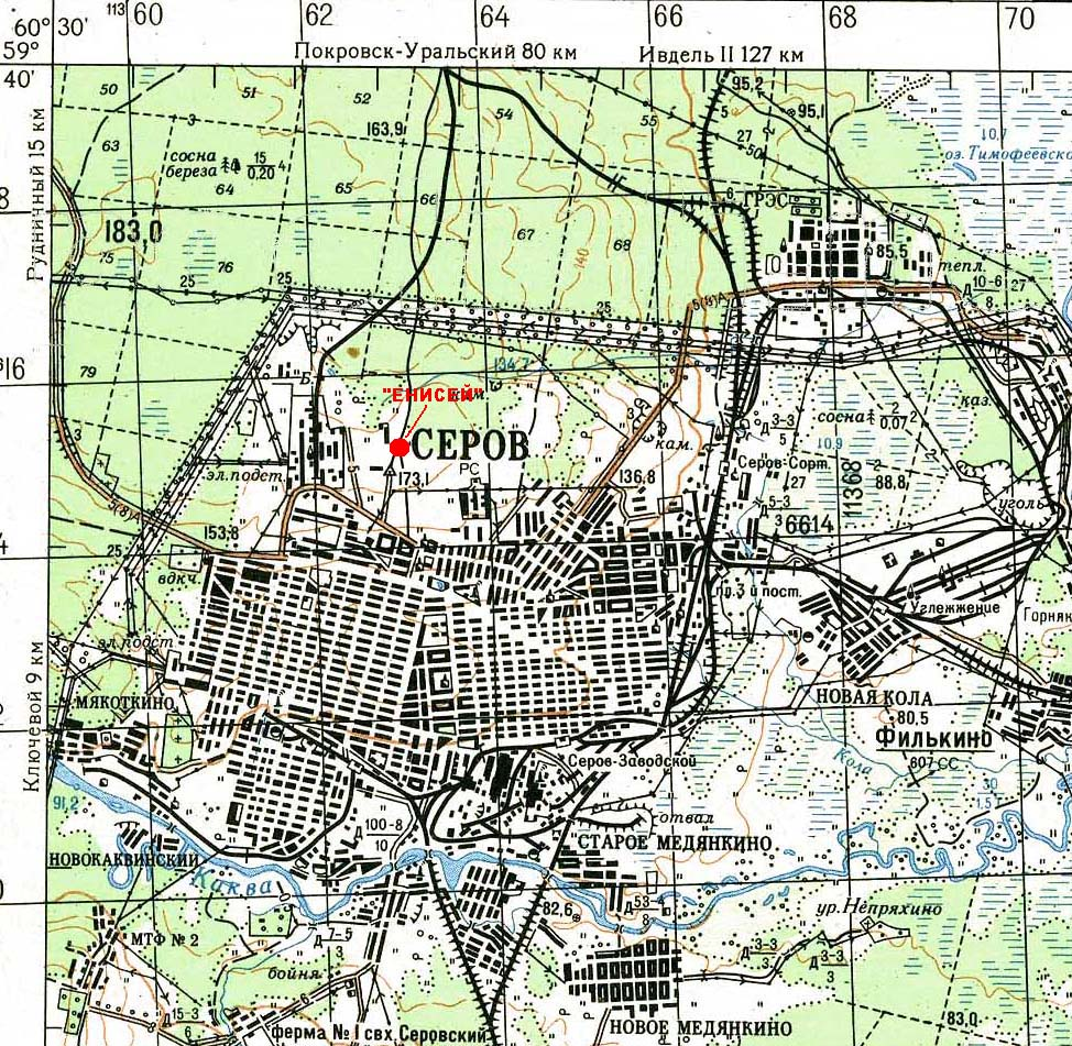 карта города серова
